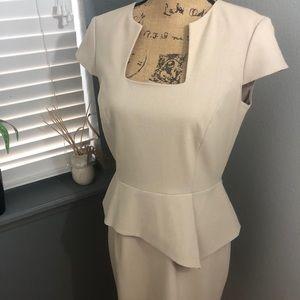 Antonio Melani Tan dress with square neckline 💕